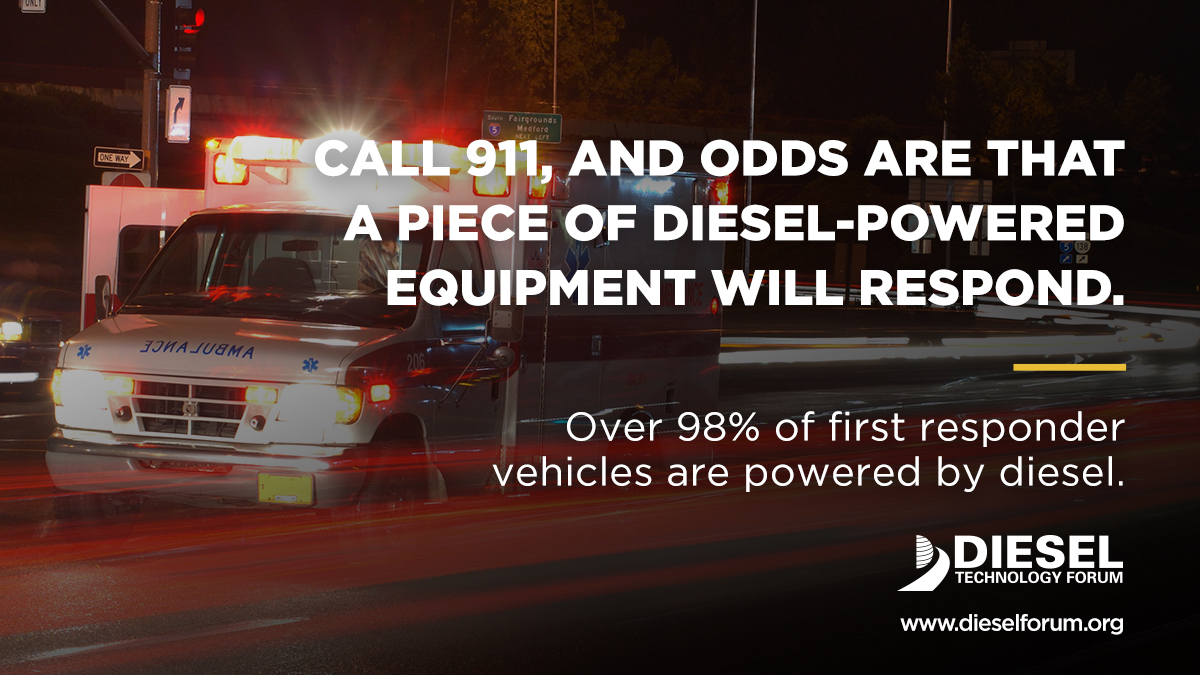 Diesel Powers First Responders Shareable